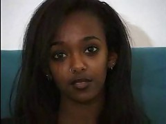 Beautiful Ebony Teen Takes A White Dick !