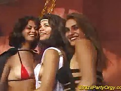 Brazilian party orgy hard fuck and group penetrations