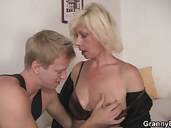 Granny fucked by young guy