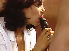 Sexy french doctor double penetration in a hospital