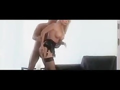Hot Blonde Secretary Stocking Office Coition SM65