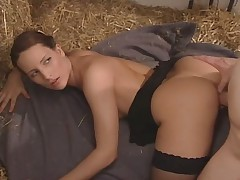 Beautiful german girl fucked on the straw
