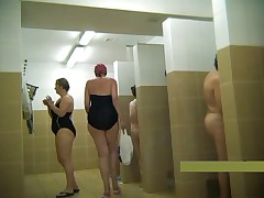 Middle-aged mothers naked in the shower #2