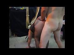 Fucking a BBW on the swing