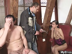 You dirty slut, you've sucked cock of my brother!!!!
