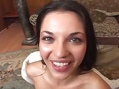 Alicia Angel eating cum