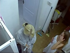 Susana and Vickie Hidden Shower Camera
