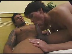 Flat Chested T-Girl Fucked By Horny Studs