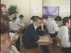 A lovely Japanese female teacher bukkake