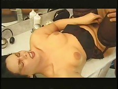 Tranny in sexy lingerie stuffing