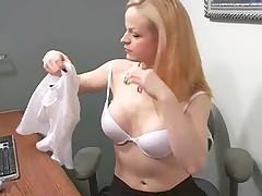 Janessa Masturbating To Their way Office