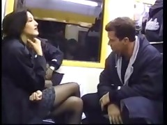 Nice public sex on the subway