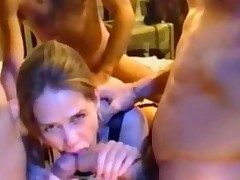 Julie Babysitter Gangbanged By Few Dicks
