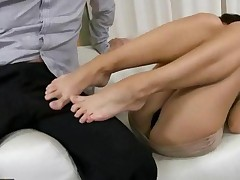 Aletta Ocean Giving Footjob And Getting Fucked