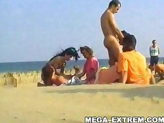 Swinger Outdoor Beach Gang-Bang ! Public Sex! Part Ii