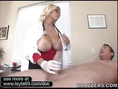 Busty Doctor Giving Head And Rammed Hard