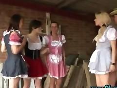 Cfnm Group British Girls Give Handjob