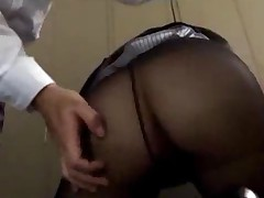 Office Lady In Pantyhose Getting Her Mouth And Pussy Fucked..
