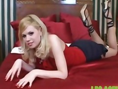 A Hot Blondes Amazing Footjob Causing Cum To Squirt