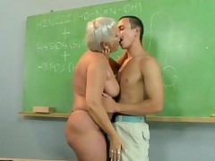 Fat Mature Teacher Fucking With Her Student