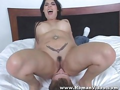 Nude Latina Domina Facesitting