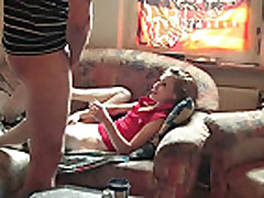 Skinny teen brunette gets anal gaped from her boyfriend