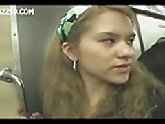 Mosaic- two anthomaniac girls in train gives geek handj