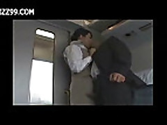 sexy train waitress fucked with passenger