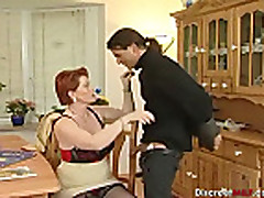 Short hair redhead mature slut