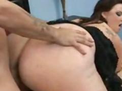 chubby brunette hard fucked
