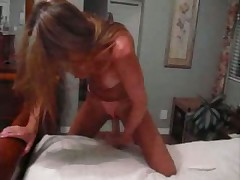 Hot MILF Jade fucks herself with three dildos