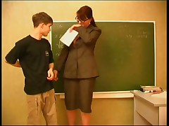 Teacher seduces a young stud