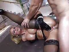 Phoenix Marie gets oily ass fucked