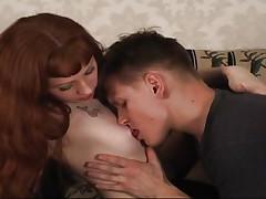 Russian couple having fun