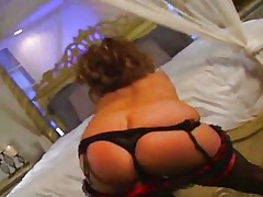 Sexy glamour girl seducing