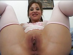 Young whore opens all holes for big cock