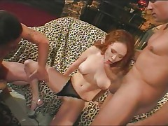 Audrey Hollander in threesome creampie