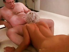 German babe wants to try a gangbang