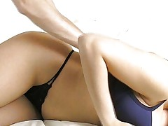 Nice natural boobs get jizzed