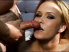 Cum swallow huge one