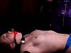 Little Brunette Slave Begs For Mercy