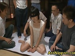 Cute Asian Babe In Hot Gang Bang Anus And Pussy Fucking Action 1 By AssNippon