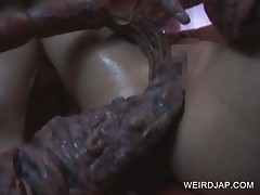 Japanese Slave Wrapped Sucking Monstres Tentacles