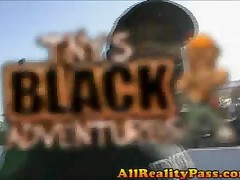 Kim Pleasures - Tinys Black Adventures - Black Babe Deep Throats Huge Dong