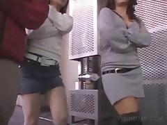Japanese Babes Showing Sexy Undies Upskirt