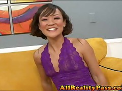 Jandi Lynn - See Her Squirt - Asian Squirter Soaks The Couch