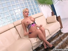 Britney - Big Tits Blonde Gets Nailed In Her Asshole And Riding Meaty Schlong