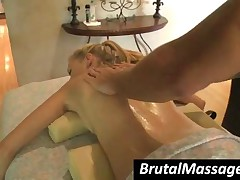 Nicole Ray - Ponytailed Babe Getting Massaged With Oil