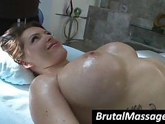 Jenna Presley - Big Breasted Charmer Gets Bald Pussy Oiled And Fingered