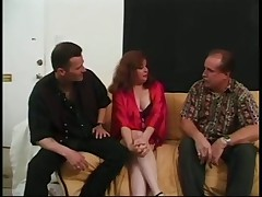 Redhead mom fucked by two dicks